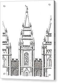 Salt Lake Temple Acrylic Print by Aaron Bodtcher