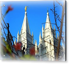 Salt Lake Temple Top Acrylic Print by Heidi Manly