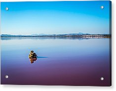 Acrylic Print featuring the photograph Salt Lake Torrevieja. by Gary Gillette