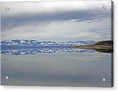 Salt Lake Winter Acrylic Print by Jeff Lucas