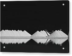 Salt Production Bw Acrylic Print