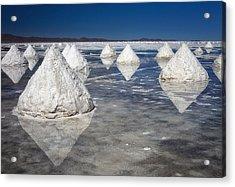 Salt Pyramids Acrylic Print
