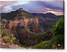 Salt River Purple Sunset Acrylic Print by Dave Dilli