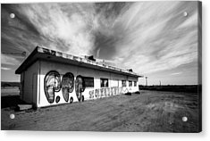 Acrylic Print featuring the photograph Salton Sea Cafe by Robert  Aycock