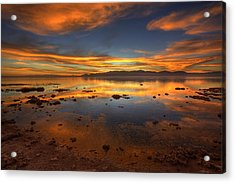 Salton Sea Color Acrylic Print by Peter Tellone