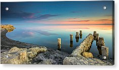 Salton Sea Reflections Acrylic Print