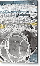 Saltwater- Abstract Painting Acrylic Print by Linda Woods