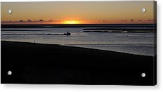 Salty Sunrise Acrylic Print by Luke Moore