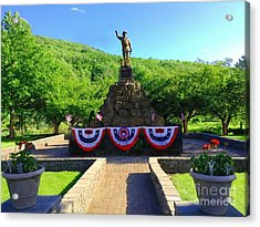 Acrylic Print featuring the photograph Salute To Our Hero's  by Becky Lupe