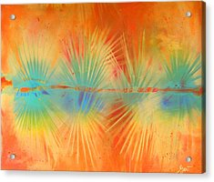 Acrylic Print featuring the painting Salute To The Sun by Gertrude Palmer