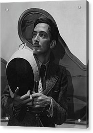 Salvador Dali Holding Fencing Equipment Acrylic Print