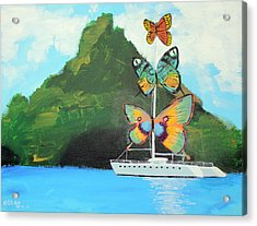Salvador Dali Inspired Butterfly Catamaran Acrylic Print by Ethan Altshuler