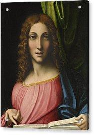 Salvator Mundi Acrylic Print by Antonio Allegri Correggio