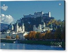 Acrylic Print featuring the photograph Salzburg Austria In Fall by Rudi Prott