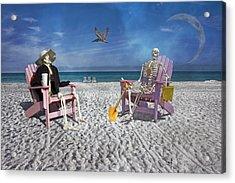 Sam And His Friend Visit Long Boat Key Acrylic Print by Betsy C Knapp