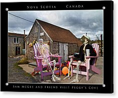 Sam And Peggy's Cove Acrylic Print by Betsy Knapp