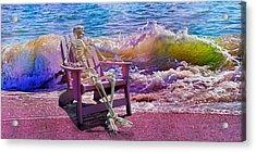 A-loon On The Beach  Acrylic Print by Betsy Knapp
