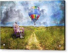 Sam Contemplates Ballooning Acrylic Print by Betsy Knapp