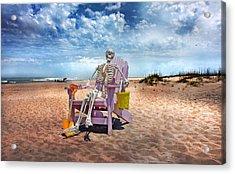 Sam Discovers Bald Head Island Acrylic Print by Betsy Knapp