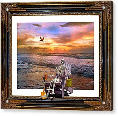 Sam Hangs Out With The Sunrise Acrylic Print by Betsy Knapp