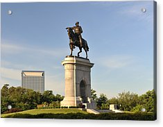 Sam Houston Statue In Hermann Park Acrylic Print by Aimintang