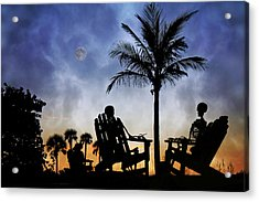 Sam Spends An Evening With Colleagues Acrylic Print by Betsy Knapp