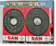 Sam The Record Man Acrylic Print