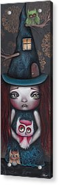 Samantha Acrylic Print by  Abril Andrade Griffith