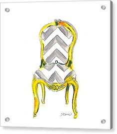 Samantha Chevron Chair Acrylic Print
