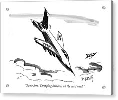 Same Here.  Dropping Bombs Is All The Sex I Need Acrylic Print by Donald Reilly