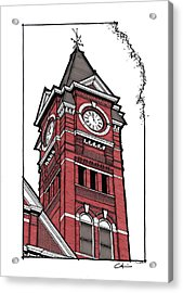 Samford Hall Clock Tower Acrylic Print