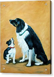 Acrylic Print featuring the painting Sammy And Breagh by Fran Brooks