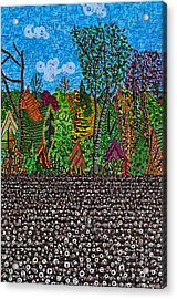 Sampson County Cotton Field Acrylic Print by Micah Mullen