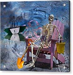 Sam's Clock Acrylic Print by Betsy Knapp