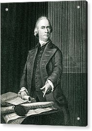 Samuel Adams  American Revolutionary Acrylic Print by Mary Evans Picture Library
