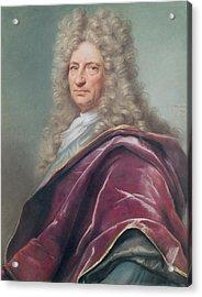 Samuel Bernard, Comte De Coubert, 1699 Pastel On Paper Acrylic Print by Joseph Vivien