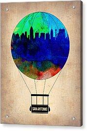 San Antonio Air Balloon Acrylic Print by Naxart Studio