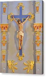 San Antonio - Crucifix Mission San Jose Acrylic Print by Christine Till