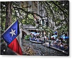 San Antonio Flag Acrylic Print