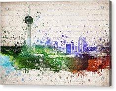 San Antonio In Color Acrylic Print