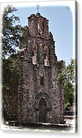 San Antonio Mission Acrylic Print by Kathy Williams-Walkup
