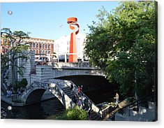 Acrylic Print featuring the painting San Antonio River 01 by Shawn Marlow
