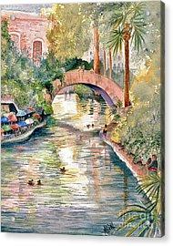 San Antonio Riverwalk Acrylic Print by Marilyn Smith