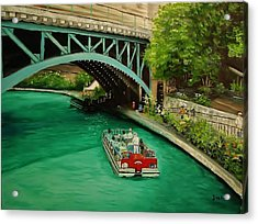 San Antonio Riverwalk Acrylic Print by Stefon Marc Brown