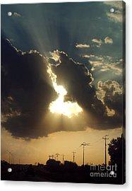 San Antonio Sunset Acrylic Print by Peter Piatt