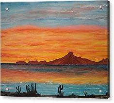 San Carlos Bay Mexico Acrylic Print by Jorge Cristopulos