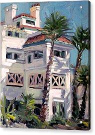 San Clemente Facade Acrylic Print by Mark Lunde