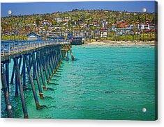 San Clemente Pier Acrylic Print by Joan Carroll