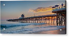 There Will Be Another One - San Clemente Pier Sunset Acrylic Print by Scott Campbell