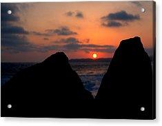 San Clemente Rocks Sunset Acrylic Print by Matt Harang